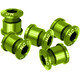 NC-17 Set of 5 94/104 Chainring Screw T6 4+5 hole green
